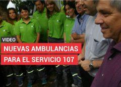 (Video) El Servicio de Emergencias 107 recibió las ambulancias y equipamiento del SAME