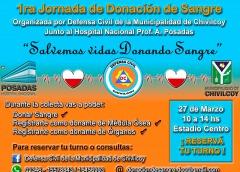 Desde Defensa Civil de la Municipalidad de Chivilcoy, lanzan la primera Colecta Externa de Sangre