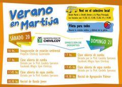 Continúan las actividades de verano en Martija