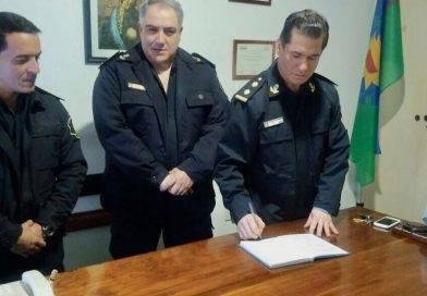 Nuevo Jefe de la Sub Estación Garelli. El Sub Comisario Fernández es nuevo Jefe de Policía en Alberti