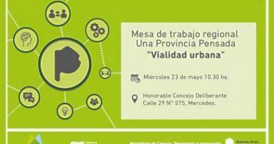 """Convocan a participar de la sexta mesa de trabajo de #UnaProvinciaPensada """"Vialidad urbana"""""""