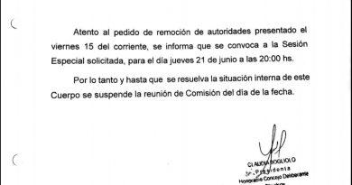 Jueves, sesión especial para someter a elección nuevas autoridades en el Deliberativo local