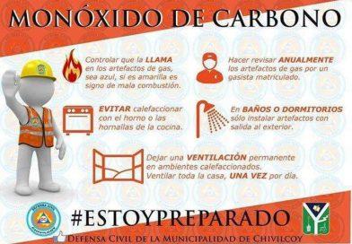 Prevención, peligrosidad de la intoxicación por monóxido de carbono