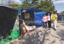 Feria Artesanal en Plaza Principal con feriantes locales, de la zona y el extranjero