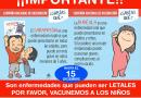Hasta el 15 de diciembre, se amplió el plazo para vacunación de niños menores de 5