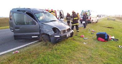 Heridos, una mujer fallecida en siniestro en Ruta 205