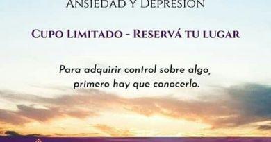"""Nicolás Hegi: domingo """"Taller Vivencial, control del stress, ansiedad y depresión»"""