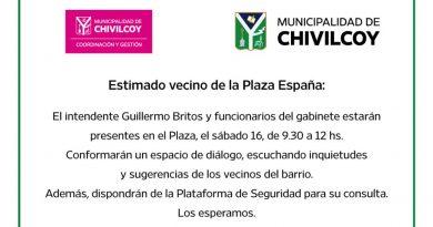 El intendente y funcionarios del gabinete atenderán a los vecinos en Plaza España