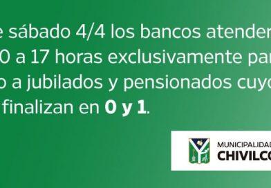 Cronograma: bancos atenderán exclusivamente a jubilados y pensionados a partir de mañana de 10 a 17 horas