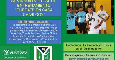 Segunda conferencia del Seminario de Entrenamiento Deportivo Virtual «Quedate en casa Chivilcoy»