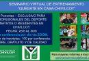 Seminario virtual de entrenamiento exclusivamente para profesionales del deporte