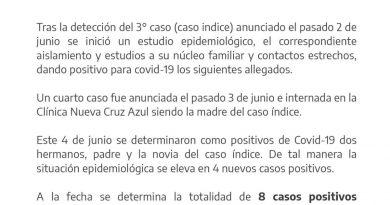 Ocho casos confirmados en Mercedes: operativo en el barrio Ravello