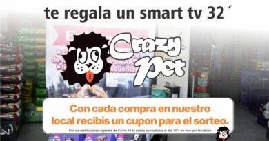 Ultimos dias para el sorteo de Crazy Pet y Eukanuba por un Smart Tv 32´