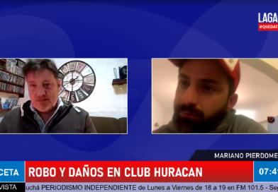 (Video) Robo y daños en el Club Huracan