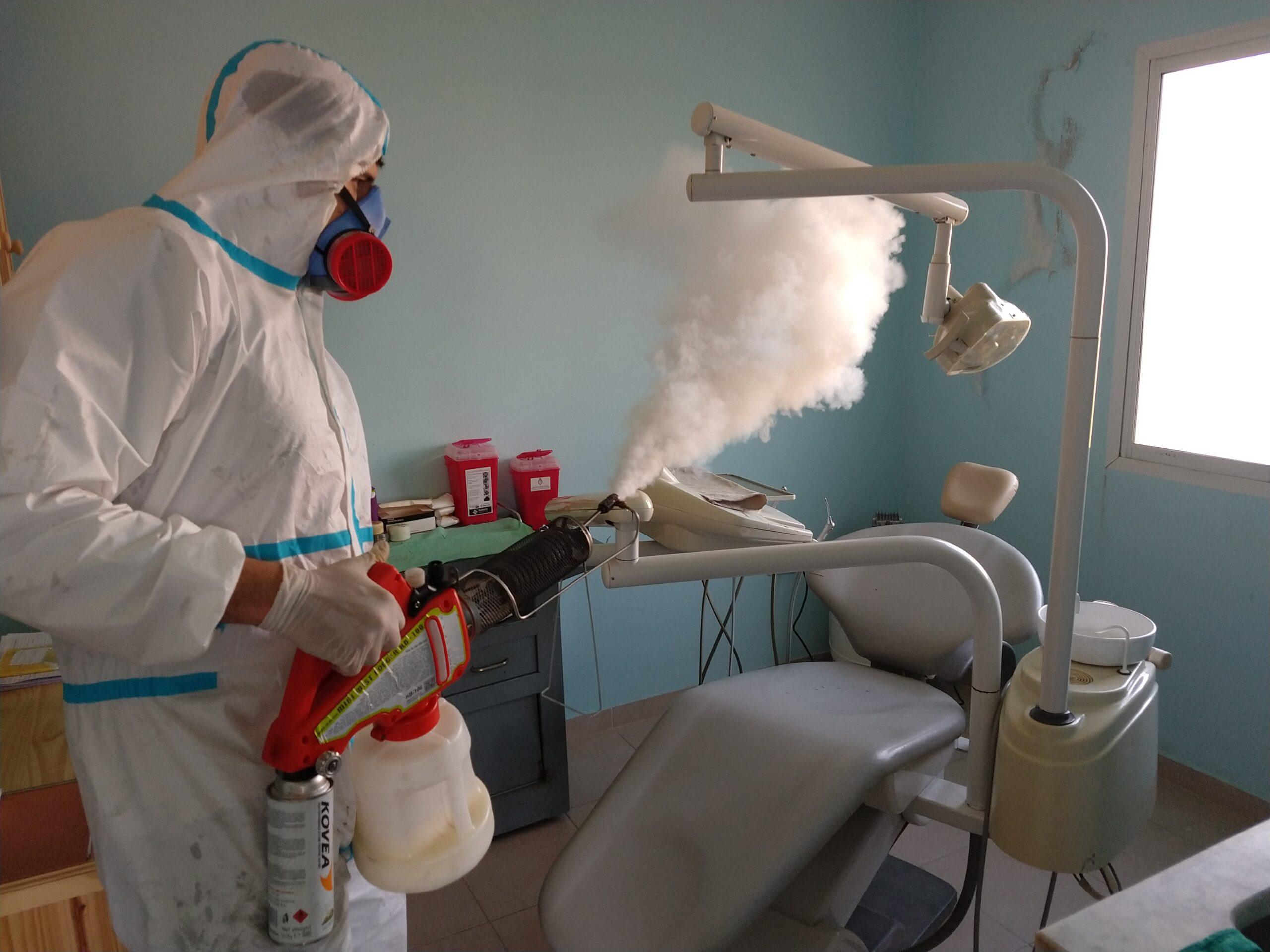 Tras detectarse un caso positivo de covid-19, se llevó a cabo la sanitización del CAPS Unión