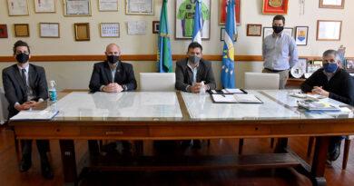 Guillermo Britos recibió a funcionarios del Ministerio de Seguridad Provincial para delinear el nuevo Plan Integral de Seguridad Local