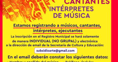 Se anunció la apertura para la inscripción en el registro de músicos, cantantes e intérpretes de música de la Secretaría de Cultura y Educación