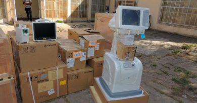 Luego del pedido de Britos al jefe de Gabinete del Ministerio de Salud, Giorgi, entregaron 4 respiradores, 4 monitores multiparamétricos y 8 bombas de infusión