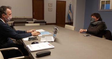 """Pablo Micheli con el ministro Katopodis. """"Hablamos sobre la cuarta sección electoral y el trabajo militante del movimiento político"""""""